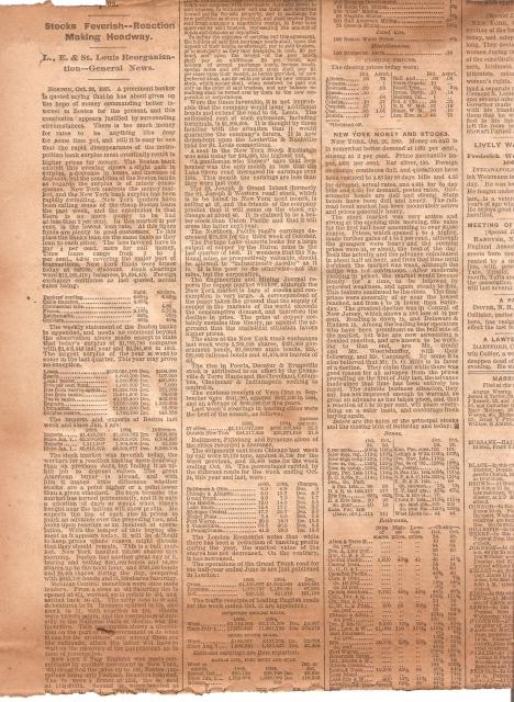 boston news 1885